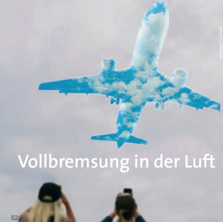 Vollbremsung in der Luft