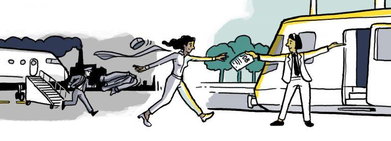 Sichere Landung – Ein gerechter Übergang vom Flugverkehr zur klimafreundlichen Mobilität